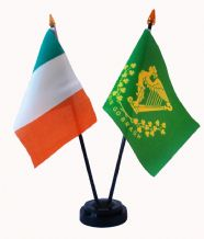 IRELAND / ERIN GO BRAGH - Table Flag Set